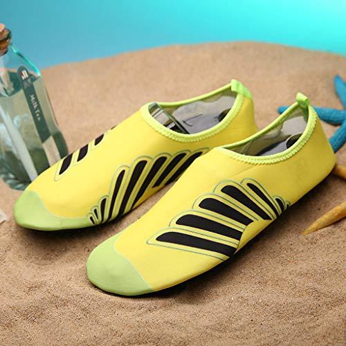 Men Women Yoga Water Shoes,Couple Summer Quick Drying Aqua Socks Barefoot Outdoor Beach Swim Slip-Proof Diving Shoes by Dacawin-Water Shoes (Image #5)
