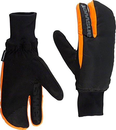 Answer Sleestak Winter Mitt: Black/Gray LG