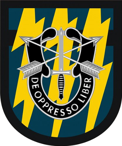 - US Army 12th Special Forces Group Flash Vinyl Decal Sticker 3.8