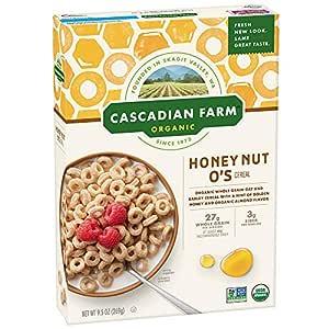 Cascadian Farm - Organic Cereal Honey Nut O'S 9.5 Oz. 138350