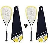 2 x Browning Nanotec Ti 150 Squash Rackets + 3 Dunlop Squash Balls