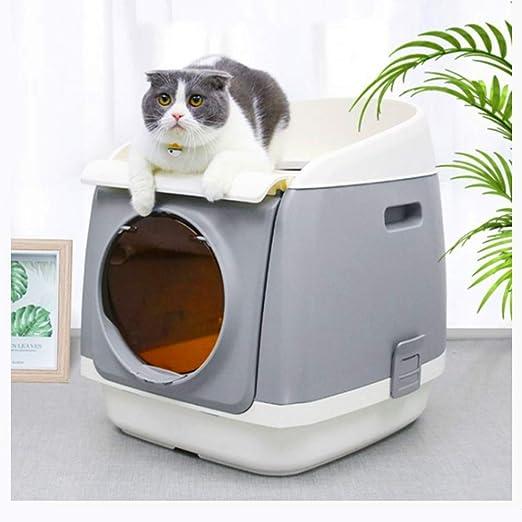 Yshen Caja de Arena para Gatos Gato para Interiores Caja de Arena ...