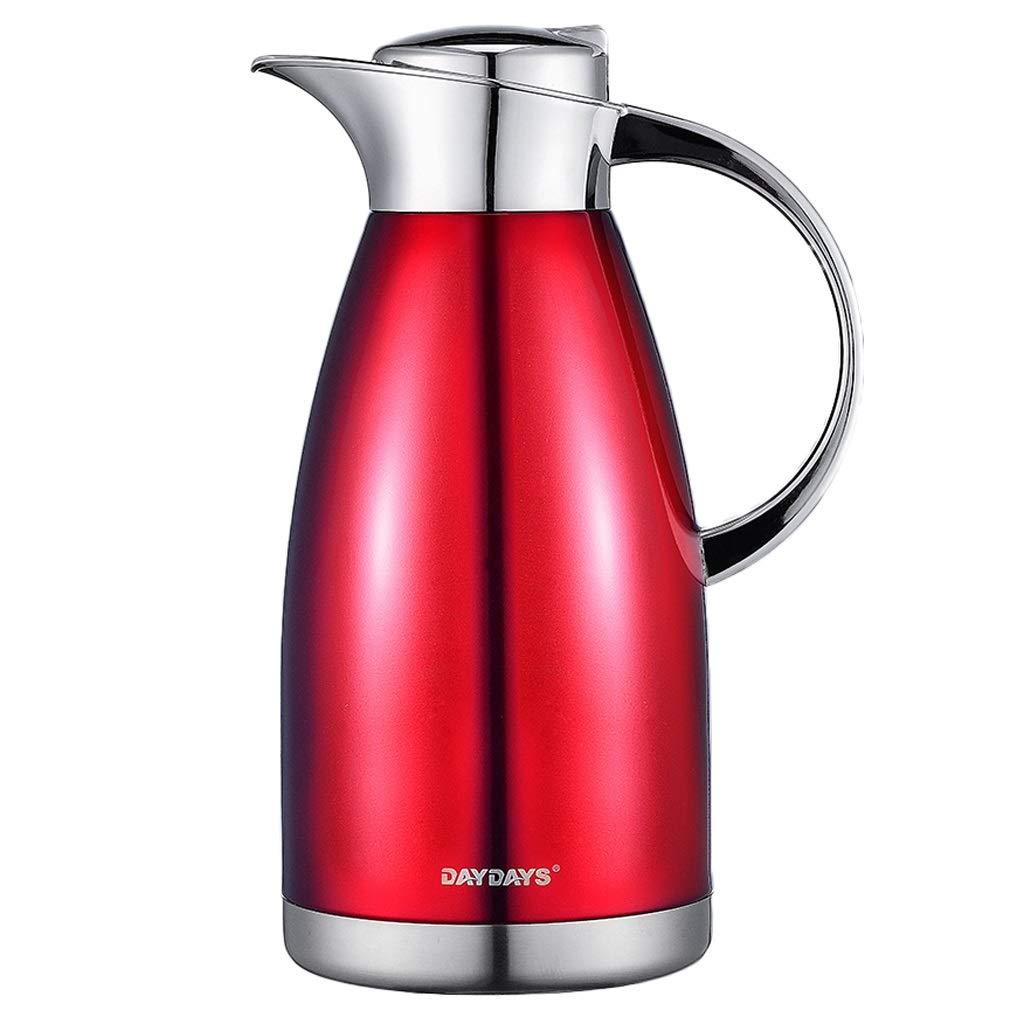家のホテルのレストランのホステルのために適したステンレス鋼2000MLの大容量の魔法瓶 (色 : Rich red, サイズ さいず : 2000ML)   B07MPXDTDG