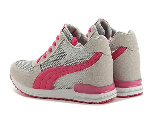 pit4tk for Breathable Women Walking On Sneakers Pink Shoes Shoes Women Slip Mesh Comfort vaxwvqrOnf
