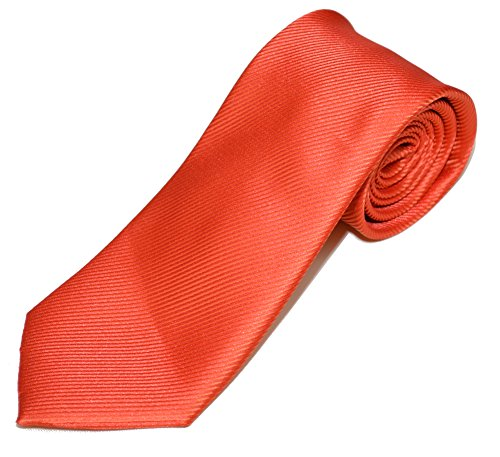 Geoffrey Beene Solid Stripe Fashion Tie (One Size, Red) (Mens Geoffrey Beene Stripe)