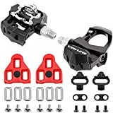 Venzo Sealed Fitness Exercise Spin Bike CNC Pedals Compatible with – Look ARC Delta – Shimano SPD- Toe Clip or Cage – 9/16″ Thread for Peloton – Options: Double, Triple, Toe Clips