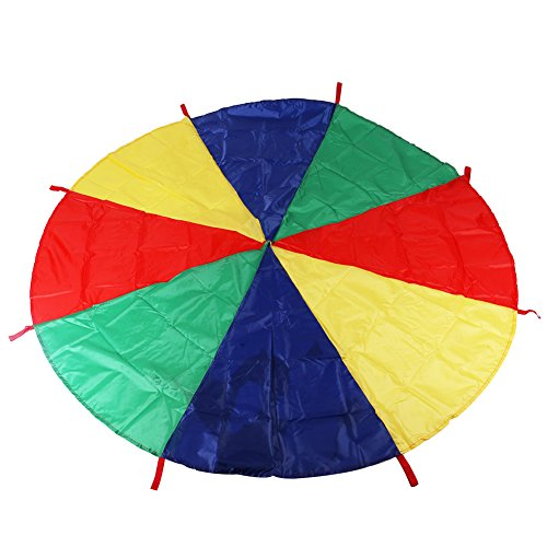 6 feet Colorful Parachute Sensory Integration Training Rainbow Kids Early Education Learning Umbrella Children Game Toy