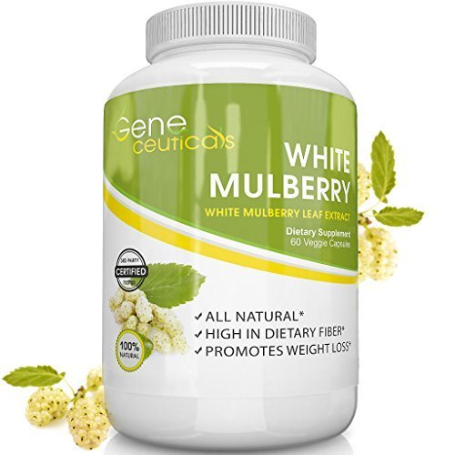 Geneceuticals White Mulberry (100% Morus Alba Extract, 1000mg) - 30 Day Supply