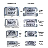 LuckyPet Slide-On Pet ID Tags, Personalized Dog and