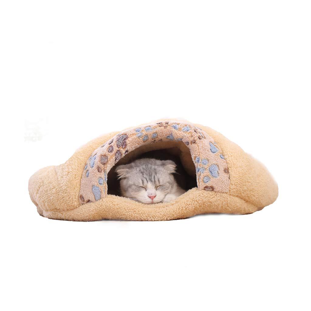 Large JXLBB Cat Litter Cat Sleeping Bag Four Seasons Universal Pet Winter Warm Cat House Cat Hole Mat Closed Small Milk Cat Litter (Size   L)