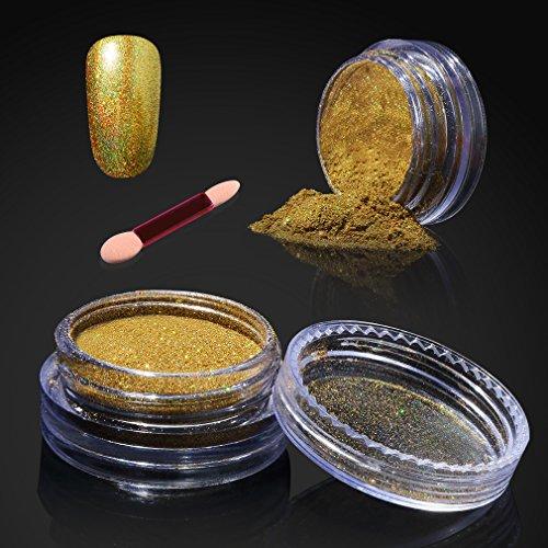 Elite99 Holographic Nail Chrome Powder,Shinning Mirror