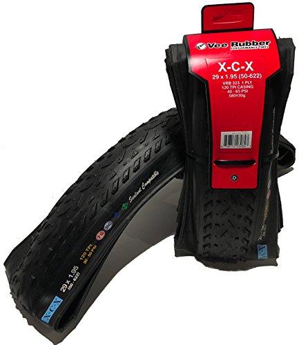 (Vee - 2 Rubber XCX Gravel 29x1.95 Bike Tires Folding Bead Dual Control Compound)