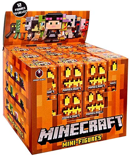 Spooky Minecraft Series 9 Halloween Complete Case of Blind Boxes Minifigures Bundle of 36 Figures