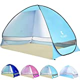 Kyпить Ylovetoys Pop Up Beach Tent, 3-4 Persons Instant Beach Tents Sun Shelter Anti UV Cabana Shade Waterproof Family Tent for Beach touring, Camping, Fishing, Hiking or Picnic (Blue) на Amazon.com