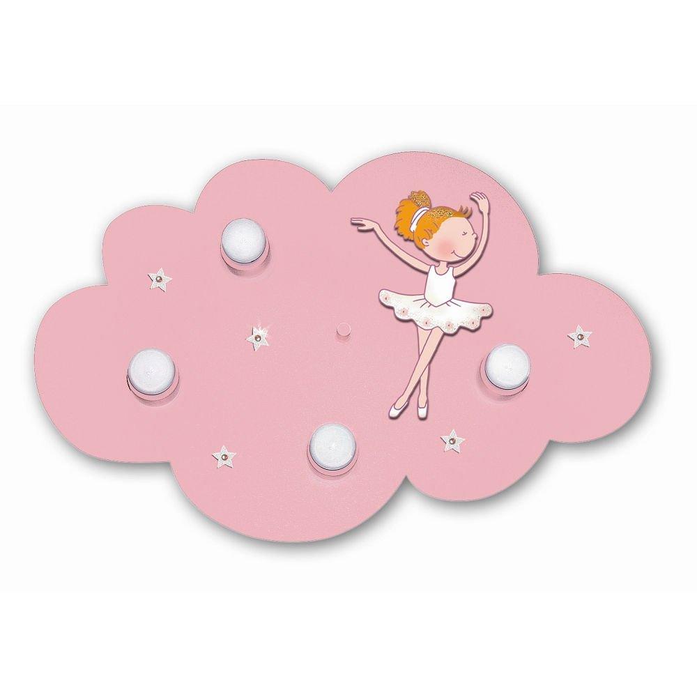 Waldi Leuchten Wolkenlampe Wolke Ballerina mit Swarovski-Steinen Hellpink   40W   65107.0
