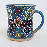 ArioCraft Handmade Decorative and Functional Ceramic Mug, Pottery Home Decor
