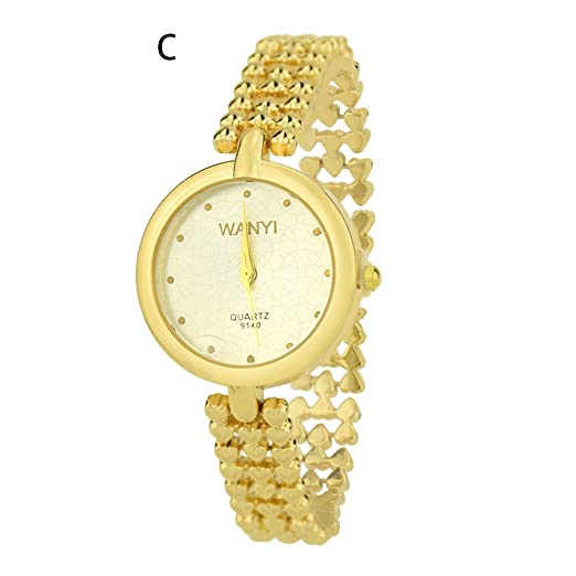 Worsworthy Reloj para Mujer Reloj de Cuarzo Reloj con Brazalete de dial pequeño Exquisito Temperamento Elegante Reloj de Marca de Cuarzo de señora: ...