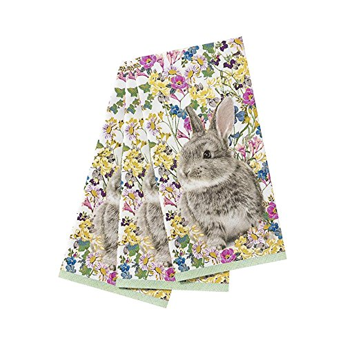 Talking Tables Truly Bunny Floral Rabbit Design Napkins for an Easter Celebration or Children's Party by Talking Tables
