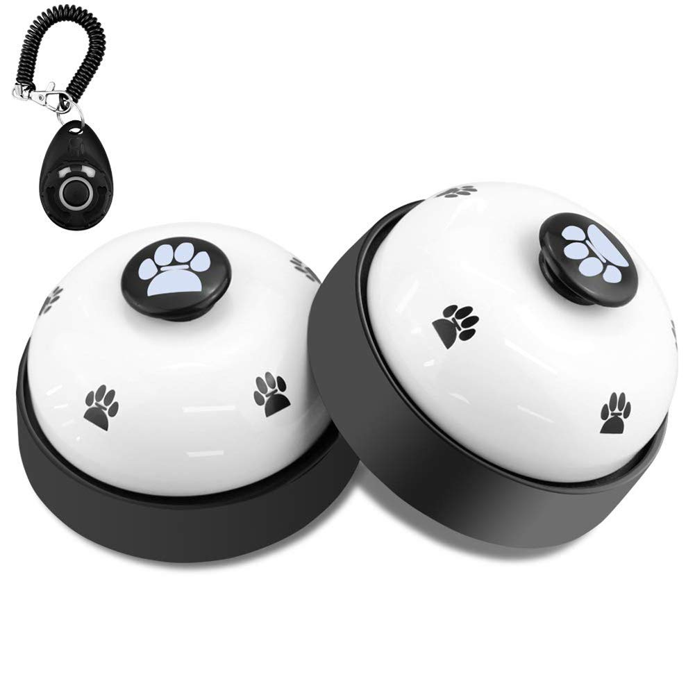 YOUNICER Metal Bell Dog Training with Non Skid Rubber Bottoms Dog Door Bell for Potty Training Ring Pet Tool