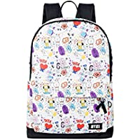 BTS BT21 Bangtan Boys Signature Backpack Character Graphic Mesh Backpack School Book Travel Shoulder Bag