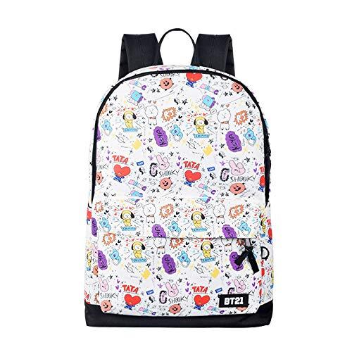 INVER&YANG Kpop BTS Bangtan Boys Backpack Unisex Casual Schoolbag Laptop Bag College Bag Travel Rucksack Nice Gift for BTS Fans