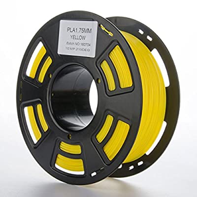 Yellow 3D Filament PLA 1.75mm 2.2LBS Spool, Dimensional Accuracy of +/- 0.05mm