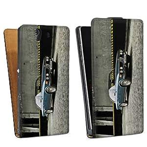 Diseño para Sony Xperia Z L36h DesignTasche Downflip black - BMW CSI