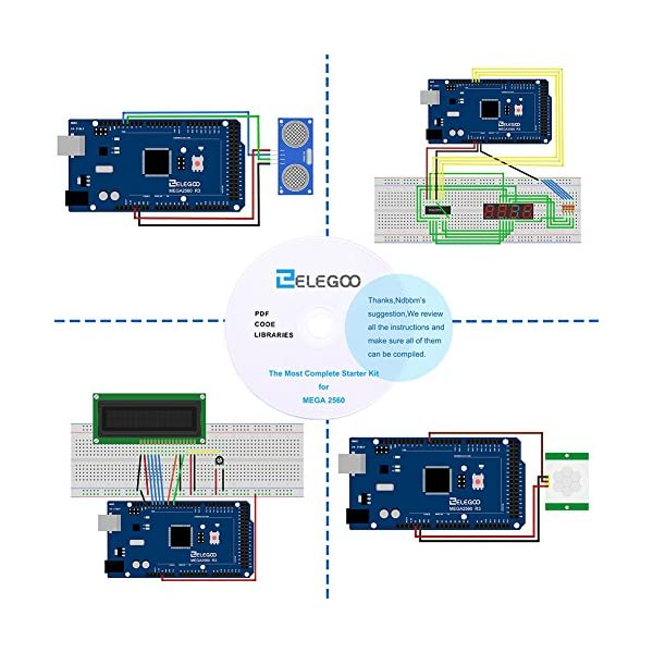 ELEGOO Mega2560 Project Starter Kit with Tutorial and Mega2560 for Arduino  Projects