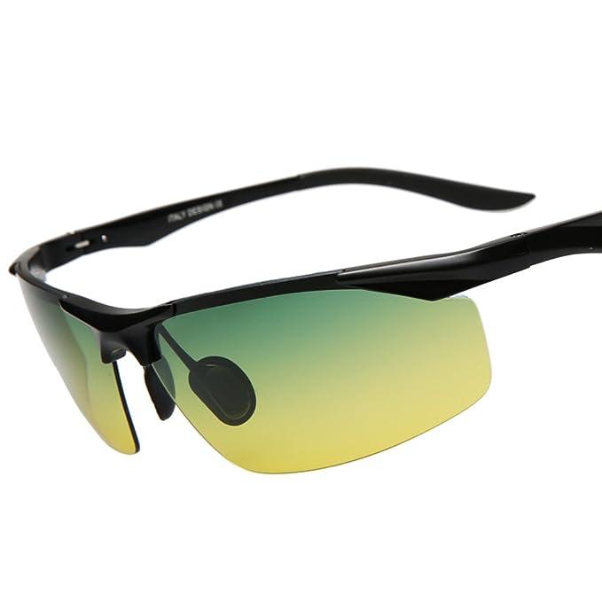 Gafas de sol polarizadas de los hombres/Día y noche tonos/Campaña condujo las gafas de sol/Especiales conducir mirrors/gafas polarizadas/Visión nocturna-H: ...