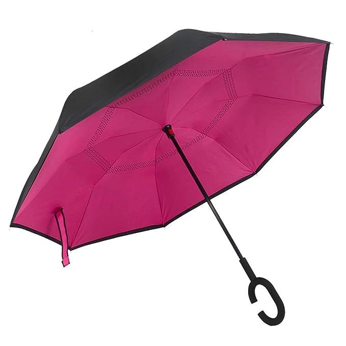 Paraguas Capa Resistente a la Intemperie Paraguas inversa Paraguas ...