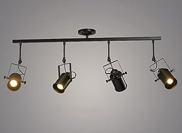 Foco XBYSD Spotlight, retro Personalidad creativa del almacén industrial de la ropa Restaurante Bar Guía Carril Luces del LED Proyectores Energía máxima 40W ...