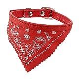 Uxcell Dog Single Prong Buckle Bandana Collar Neckerchief Neck Scarf, Red