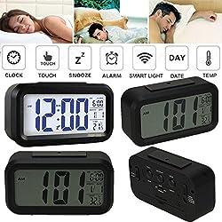 Novelty Digital Alarm Clock LED Large Screen 4 Level Alarm Adjustable 2 Mode Display 12/24 Combo Function Bedside Desk Accessory Best Gift Idea for Home living room Office Bed room MRN141