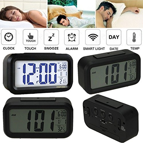 Novelty Digital Alarm Clock LED Large Screen 4 Level Alarm Adjustable 2 Mode Display 12/24 Combo Function Bedside Desk Accessory Best Gift Idea for Home living room Office Bed room - Outlet Versace Store