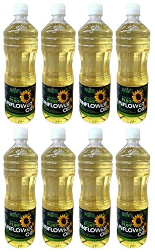 Authentic Menu Imported Pure Sunflower Oil, 33.8 fl oz (2 count) (Pack of 4) by AUTHENTIC MENU