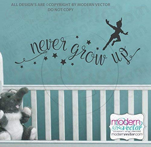 Amazoncom Peter Pan Never Grow Up Disney Quote Vinyl Wall Decal