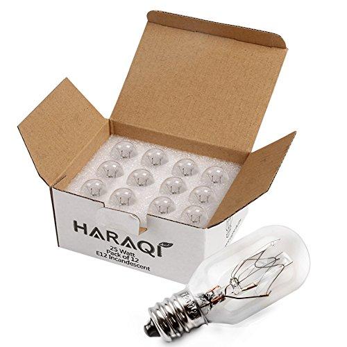 Copper 3 Candelabra Sockets - 12 Pack Salt Lamp Bulbs,Wax Warmer Bulbs,Incandescent Bulbs,Replacement Light Bulbs for Himalayan Salt Lamps and Plug in Wax Diffusers,Salt Night Lights 25Watt E12 Socket