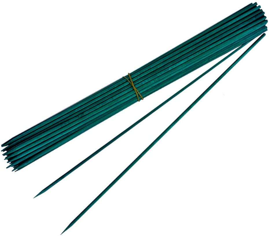 SHEN RONG Green Wood Plant Stake,Bamboo Sticks for Plants,Flower Stakes,Green Stakes,Bamboo Sticks for Gardening,Green Sticks for Plants (50, 15)