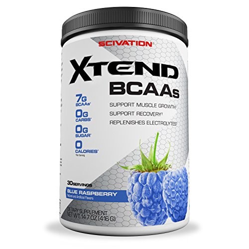 Scivation, Xtend BCAAs, Blue Raspberry, 30 Servings