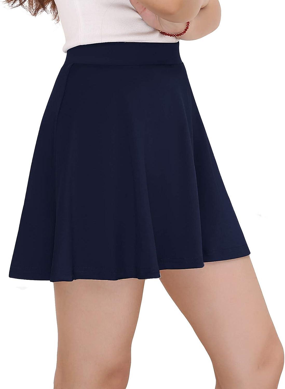 Mujer Yoyaker Falda Mujer Short Cortos Elastica Basica Patinador Multifuncional Con Pantalones Cortos Ropa Brandknewmag Com
