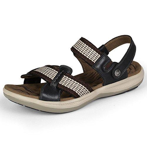 Perfekt Menu0027s Open Toe Sandals Outdoor Sports Shoes Summer Casual Leather Beach  Shoes Slipper Black DpD6CSx6Ga