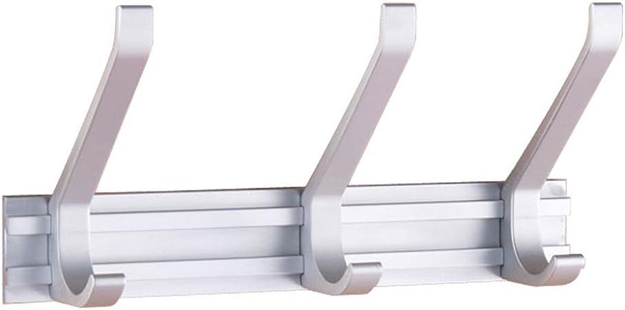 aluminio espacio de ganchos para colgar ropa gancho fila ganchos para colgar ropa gancho de la pared ganchos para colgar ropa de baño para toallas de cocina (Diseño : 3P) :