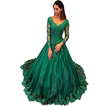 Chady Elegant Plus Size Evening Gowns 2017 Emerald Green