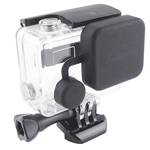 Toughsty™ Soft Silicone Lens Cover Cap for GoPro HD Hero 3+ Camera Housing Case (black)