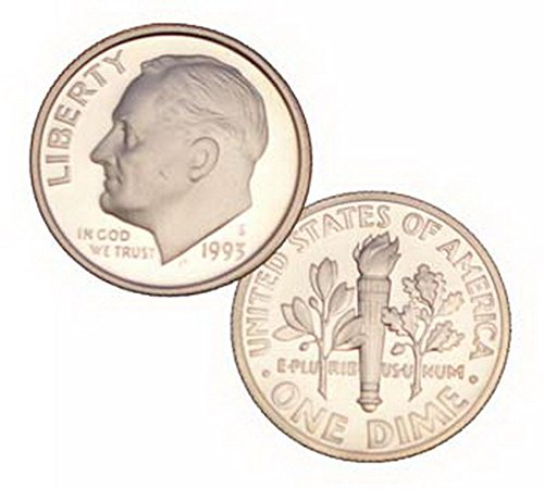 Roosevelt Dime 10 Cent Coin (1993 S 90% Silver Roosevelt Proof 10 Cent Dime Coin)