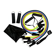 Kirity Resistance Band Set with Door Anchor, Ankle Strap, Exercise Chart, and Resistance Band,Set of 11