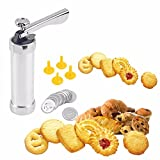 Gosedy Multi Pattern cookie extruder Press Machine Biscuit Maker Cake Making Decorating Gun Kitchen Tools (Stainless Steel)