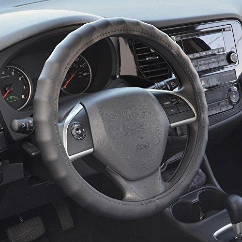 Ford Truck Steering Wheel - BDK SW899 15.5-16.5 Leather Car Steering Wheel Cover 15.5
