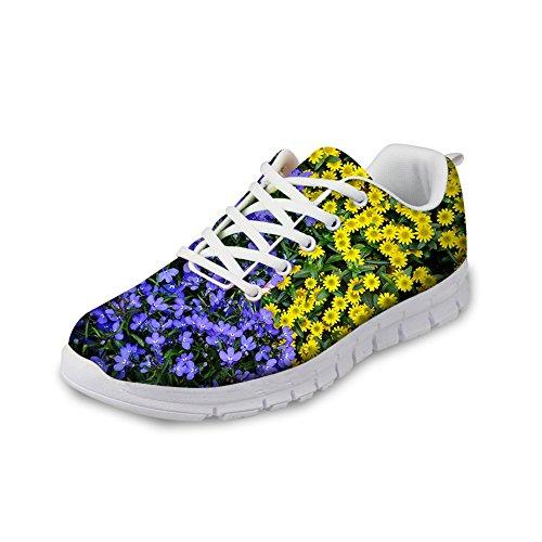 HUGS IDEA Y-HA007AQ - Zapatillas de Running Para Mujer Floral 5