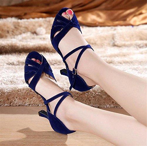 Donne Pompe Danza a Taogo XIE EU38 Sandali latino 35 ballo BLUE75CMHEEL EU38 da Da 41 Scarpe Bnddw0qR